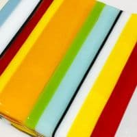 Deckchair Striped Glass Coasters | Fused Glass Coasters | Tracey Harris